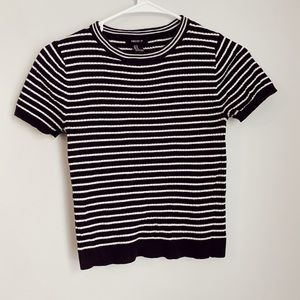 cropped ribbed tee!